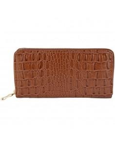 Női barna pénztárca - Méret 20 x 10 cm - 494073757002