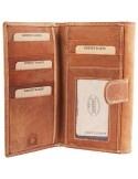 Accent női pénztárca valódi bőrből - VILÁGOSBARNA - 495710957502