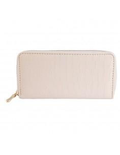 Nagyméretű fehér színű női pénztárca - Méret 19 x 10 cm - 494035002002