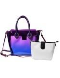 Női táska, lila / fehér - TA0380002221