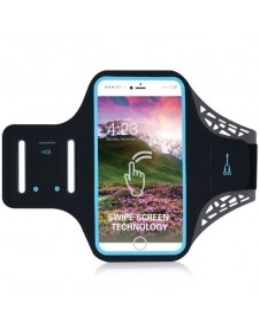 Ultra vékony karra csatolható telefontok futáshoz - 5.5 colos - FEKETE