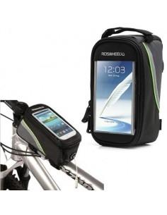 Kerékpárra rögzíthető telefontok 8.5x16 cm-es telefonokhoz - FEKETE