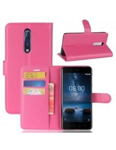 Notesz tok Nokia 8 készülékhez - PINK