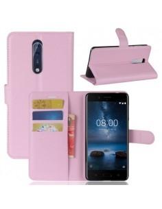 Notesz tok Nokia 8 készülékhez - RÓZSASZÍN