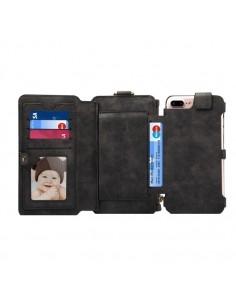 DIBASE multifunkciós telefontok iPhone 8 Plus és a 7 Plus / 6S Plus / 6 Plus telefonhoz - FEKETE
