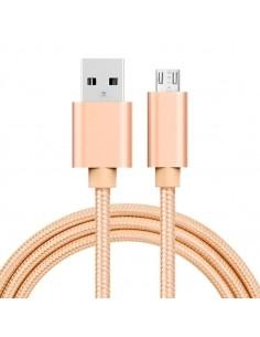 MicroUSB kábel - adatkábel - fonott dizájn - 1m hosszú - ARANY