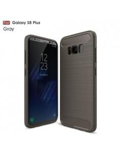 Samsung Galaxy S8 Plus karbon mintás tok - SZÜRKE