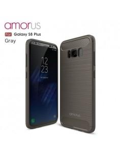 AMORUS Samsung Galaxy S8 Plus karbon mintás tok - SZÜRKE