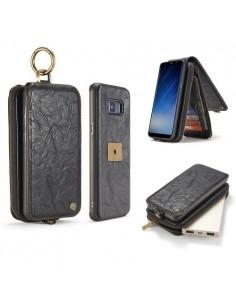 CaseMe notesz telefontok Samsung Galaxy S8 Plus telefonhoz - FEKETE