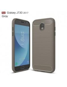 Samsung Galaxy J7 (2017) karbon mintás tok - SZÜRKE