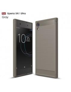 Sony Xperia XA1 Ultra karbon mintás tok - SZÜRKE
