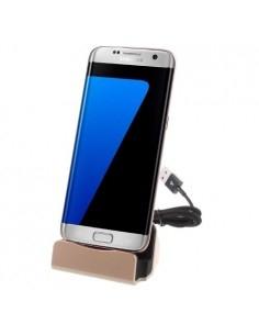 Univerzális Micro USB-s asztali töltő állvány - ARANY