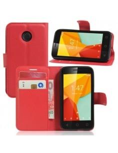 Notesz tok Vodafone Smart mini 7 telefonhoz - PIROS