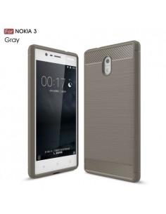 Nokia 3 karbon mintás tok - SZÜRKE