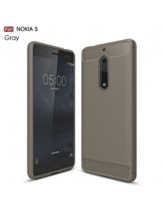 Nokia 5 karbon mintás tok - SZÜRKE