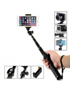 Teleszkópos szelfibot Bluetooth vezérléssel okostelefonokhoz GoPro kamerához - FEKETE