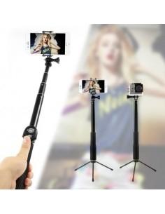 Teleszkópos szelfibot és állvány Bluetooth vezérléssel okostelefonokhoz GoPro kamerához - ZÖLD