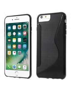 S-line rugalmas tok iPhone 8 Plus /7 Plus/6s Plus/6 Plus telefonhoz - FEKETE