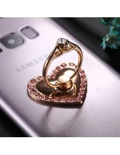 Szív formájú telefon gyűrű - PINK