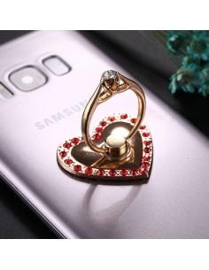 Szív formájú telefon gyűrű - PIROS