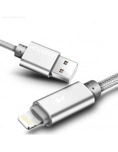 JOYROOM S-Q2 2m 8 Pin USB kábel iPhone X/8/8 Plus/7/7 Plus/6/6s/6 Plus/6s Plus/iPad/5/5s/SE - EZÜST