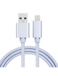 1 méteres USB kábel iPhone X/8/8 Plus/7/7 Plus/6/6s/6 Plus/6s Plus/iPad/5/5s/SE - EZÜST