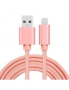 2 méteres USB kábel iPhone X/8/8 Plus/7/7 Plus/6/6s/6 Plus/6s Plus/iPad/5/5s/SE - RÓZSAARANY