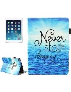 Táblagép tok iPad 9.7 2017 / iPad Air / iPad Air 2 colos készülékekhez - NEVER STOP DREAMING