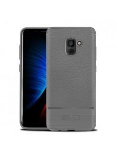 IVSO TPU rugalmas tok Samsung Galaxy A8 (2018) készülékhez - SZÜRKE