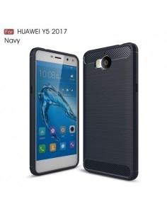 Huawei Y5 (2017) / Y6 (2017) karbon mintás tok - KÉK