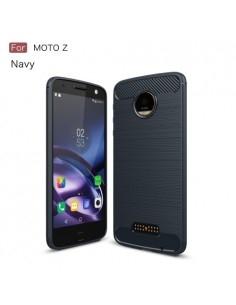 Motorola Moto Z karbon mintás tok - KÉK