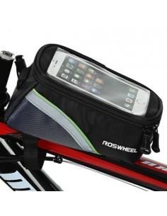 Kerékpárra rögzíthető telefontok 8.5x16 cm-es telefonokhoz - ZÖLD/FEKETE