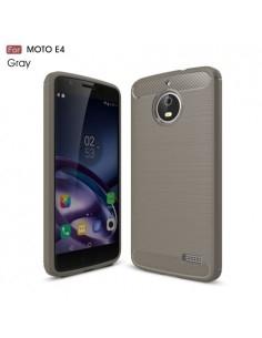 Motorola Moto E4 karbon mintás tok - SZÜRKE