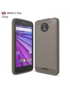 Motorola Moto C Plus karbon mintás tok - SZÜRKE