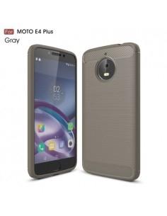 Motorola Moto E4 Plus karbon mintás tok - SZÜRKE
