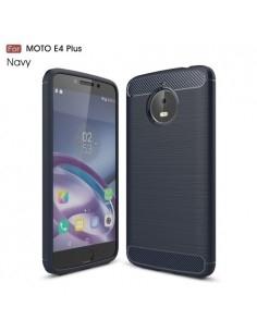 Motorola Moto E4 Plus karbon mintás tok - KÉK