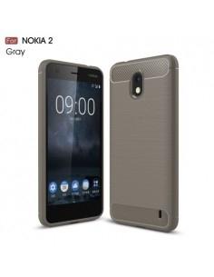 Nokia 2 karbon mintás tok - SZÜRKE