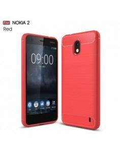 Nokia 2 karbon mintás tok - PIROS