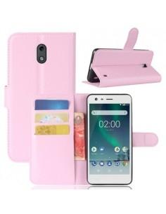 Notesz tok Nokia 2 telefonhoz - RÓZSASZÍN