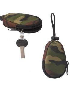 Univerzális vízhatlan cipzáras kulcstartó táska - TEREPSZÍNŰ - T10064