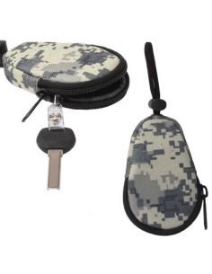 Univerzális vízhatlan cipzáras kulcstartó táska - TEREPSZÍNŰ - T10065