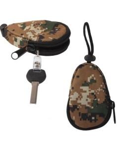 Univerzális vízhatlan cipzáras kulcstartó táska - TEREPSZÍNŰ - T10066
