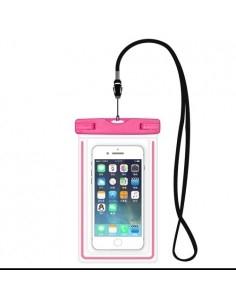 Vízálló mobiltelefon tartó 17 x 11 cm készülékekhez - RÓZSASZÍN