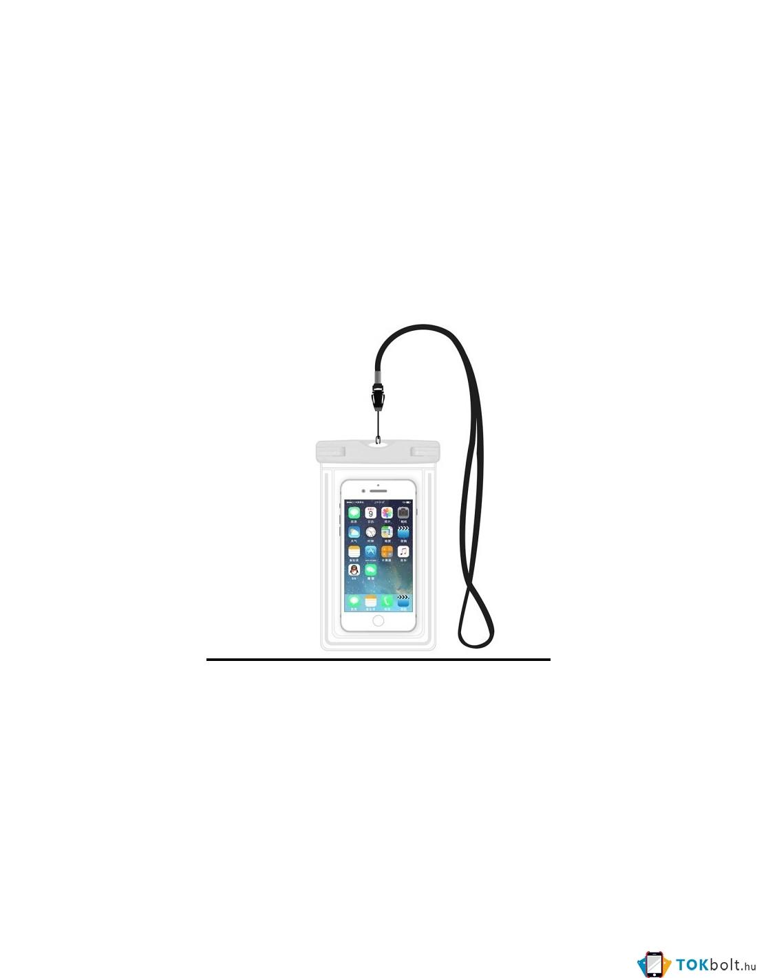 6107b12e3086 Vízálló mobiltelefon tartó 17 x 11 cm készülékekhez - FEHÉR