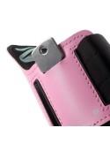 Karra csatolható rugalmas anyagú telefontok sportoláshoz - 7,5*14 cm - RÓZSASZÍN