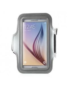 Karra csatolható rugalmas anyagú telefontok sportoláshoz - 7,5*14 cm - EZÜST
