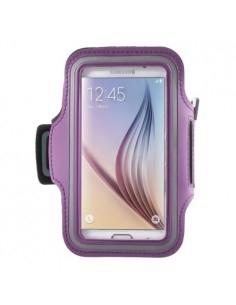 Karra csatolható rugalmas anyagú telefontok sportoláshoz - 7,5*14 cm - LILA