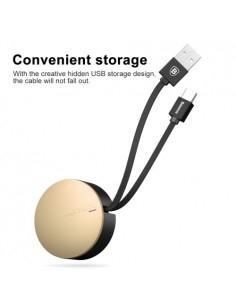 BASEUS behúzható USB Type-C kábel - adatkábel - 90 cm hosszú - ARANY