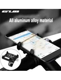 G-86 univerzális kormányra rögzíthető masszív aluminium telefontartó 50-100 mm széles készülékekhez - FEKETE