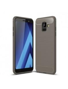 Samsung Galaxy A6 (2018) karbon mintás tok - SZÜRKE